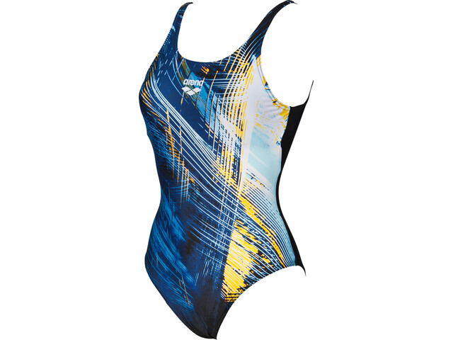 arena Icy U Back Badedragt Damer, black-lily yellow